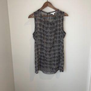 Cabi semi-sheer tank blouse medium